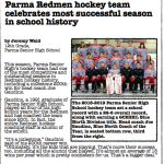Parma Redmen Hockey featured in the PCSD Monitor