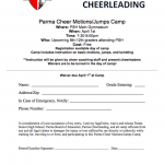 PSH Cheerleading Motions and Jump Camp on April 1st