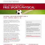 Mark Your Calendars: UH Hospitals offering FREE sports physicals on 6/8 and 6/15