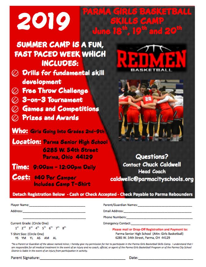 Redmen Girls Basketball Camp Starts Tuesday, June 18th…Walk-Ups Welcome!