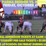Homecoming Game and Tailgate tonight! Tailgate starting at 5pm with kick-off at 7pm