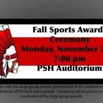 Fall Sports Awards Ceremony on Monday, 11/25 7pm