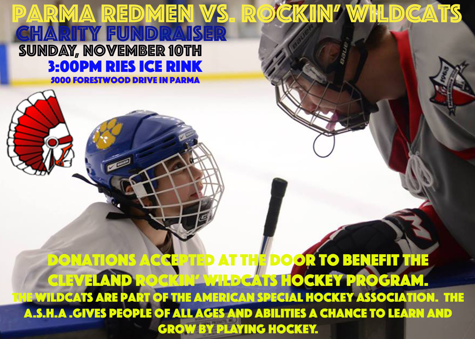 Parma Hockey to Hold Charity Game to Support Local Hockey Team for Special Needs Players
