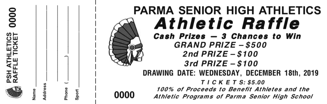 Annual Fall/Winter Cash Raffle Fundraiser to Support PSH Athletics Uniform/Equipment Fund