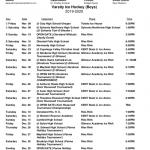 Redmen Ice Hockey 2019-20 Schedules