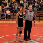 Senior wrestler Liz Matis places in her first Varsity Tournament