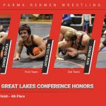 10 Wrestlers Place at Conference Tournament; 6 Redmen Earn All-GLC Honors