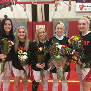 Pictures from Girls Basketball Senior Night and Victory over Holy Name
