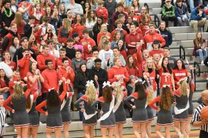 Pictures of Boys Basketball and Cheerleading Senior Night Game vs. Valley Forge