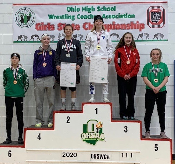 Parma's Liz Matis claims 2nd place at Ohio girls wrestling championships