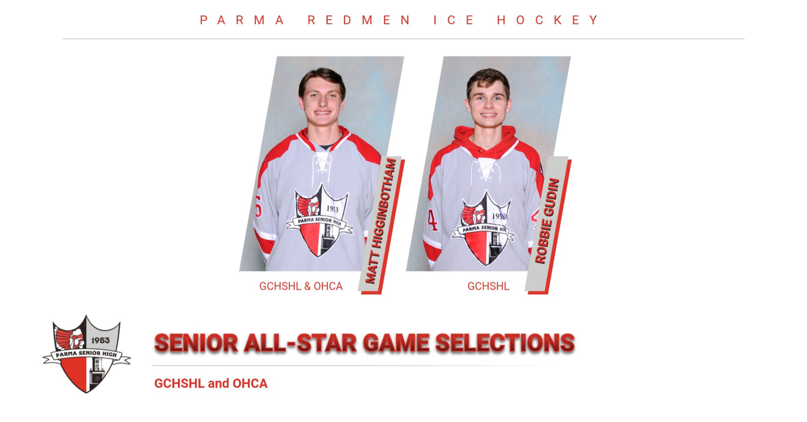 Gudin and Higginbotham to Represent Parma in Senior All-Star Games