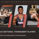 9 Redmen Wrestlers Place at OHSAA Sectional Tournament; 6 Qualify for OHSAA District Tournament