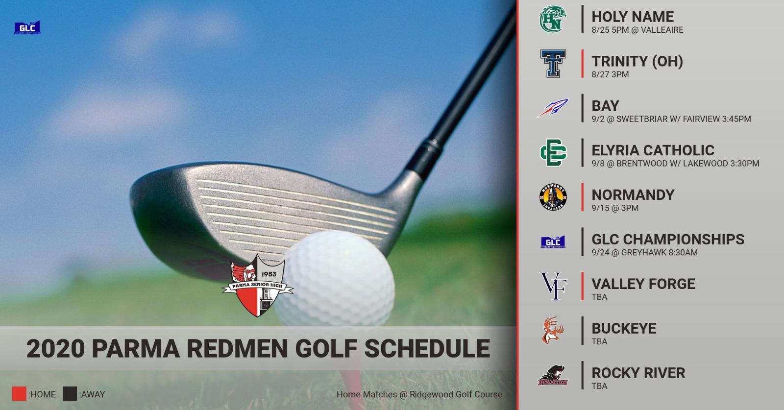2020 Parma Redmen Golf Schedule