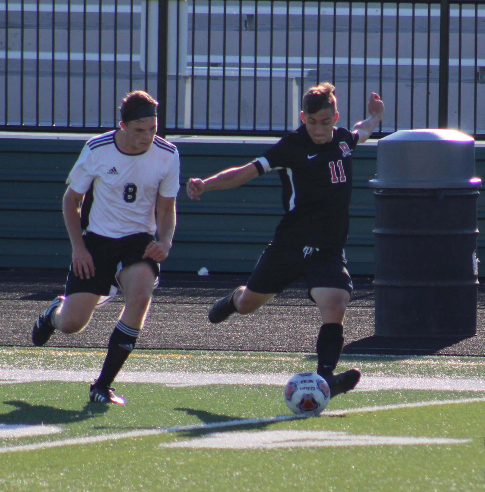 Action Pics of Redmen Boys Soccer vs Hearts