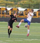 Action Pics of Boys Soccer vs Midview