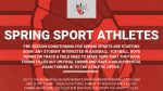 Info for Students Interested in Joining a Spring Sport and Contact Info for Coaches