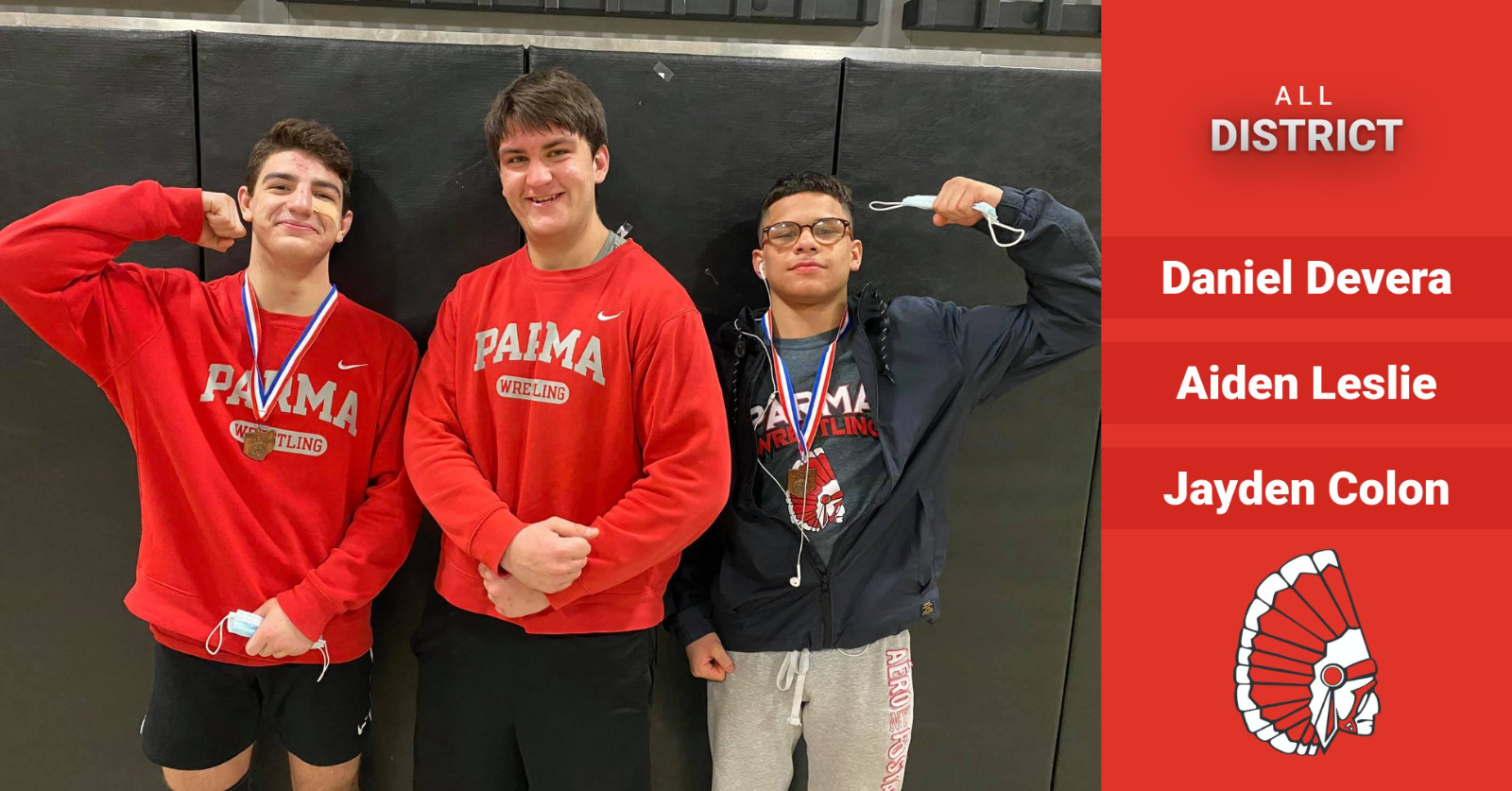 Congratulations to our All-District Wrestlers