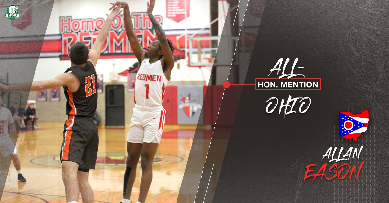 Congratulations to Parma's Allan Eason for Being Named Honorable Mention All-Ohio