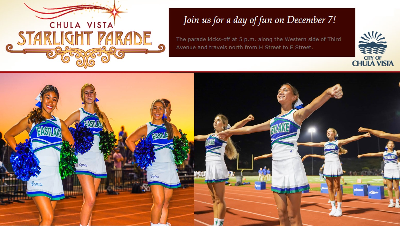 EHS Cheer in CV Starlight Parade 12/7