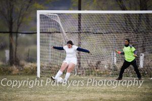 RHS Girls J.V. Soccer vs. Basalt 04 02 2015