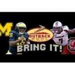 Michigan vs. South Carolina January 1, 2013:  Outback Bowl