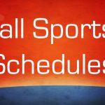 Fall Sports Schedule 2016
