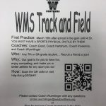 Middle School Track Sign Ups