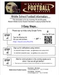 7th and 8th Grade Football Sign Up!