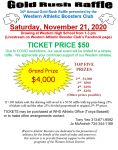 Gold Rush Raffle – Do you have you Ticket?