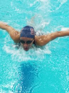 Bowie Swim Team at County Championship 17-18