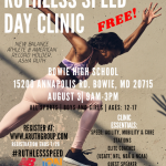 FREE SPEED CLINIC Aug 3rd for boys and girls ages 12-17