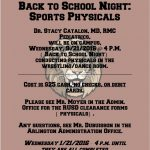 Physical Exams On Campus During Back To School Night, 9/21/2016