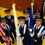 Color Guard at Back To School Night