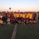 Arlington Maroon Alumni Football Team downs the gold team 19-12, on Saturday, 8/19, at Arlington Stadium.
