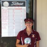 Grace Barbosa, senior golfer, earned all I.V.L. first team honors on Wednesday, 10/18.