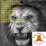 Arlington Boys' Basketball to host Lakeside at 6:30 p.m. on Tuesday, 12/5, in the second round of the Riverside Kiwanis Tournament.