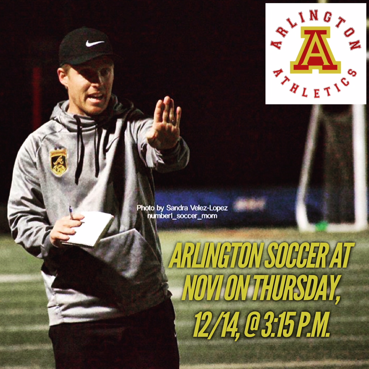 Arlington Boys' Soccer at Norte Vista, on Thursday, 12/14.  Varsity and J.V. @ 3:15 p.m.