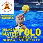 Arlington Girls' Water Polo defeats Hillcrest, 9-4 on Thursday, 12/14.