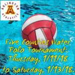 Arlington Water Polo plays Hemet on Friday, 1-12-18, at 4 p.m.