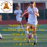 Arlington Girls Soccer travels to Poly on Thursday, 1/11/2018.