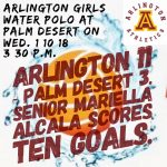 Arlington 11 – Palm Desert 3, on Wednesday, 1/10/2018.