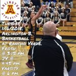 Arlington Boys Basketball travel to Rancho Verde, on Tuesday, 1/16/2018.