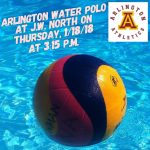 Arlington Girls Water Polo downed J.W. North, 8-4, on Thursday, 1/18/2018.