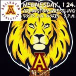 Arlington Wrestling hosts J.W. North on Wednesday, 1/24/2018. 5 p.m.