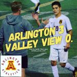 Arlington Boys Soccer shuts down Valley View, 3-0, on Tuesday, 1-23.