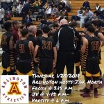 Arlington Boys Basketball vs. J.W. North on Thursday, 1/25/2018.