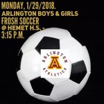 Frosh Boys and Girls Soccer at Hemet H.S. on Monday, 1/29/2018.
