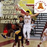 Arlington Boys Basketball at Polytechnic on Tuesday, 1/30/2018.