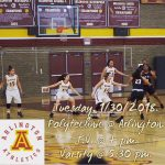 Arlington Girls Basketball vs. Polytechnic on Tuesday, 1/30/2018.