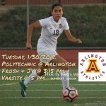 Arlington Girls Soccer vs. Polytechnic on Tuesday, 1/30/2018.